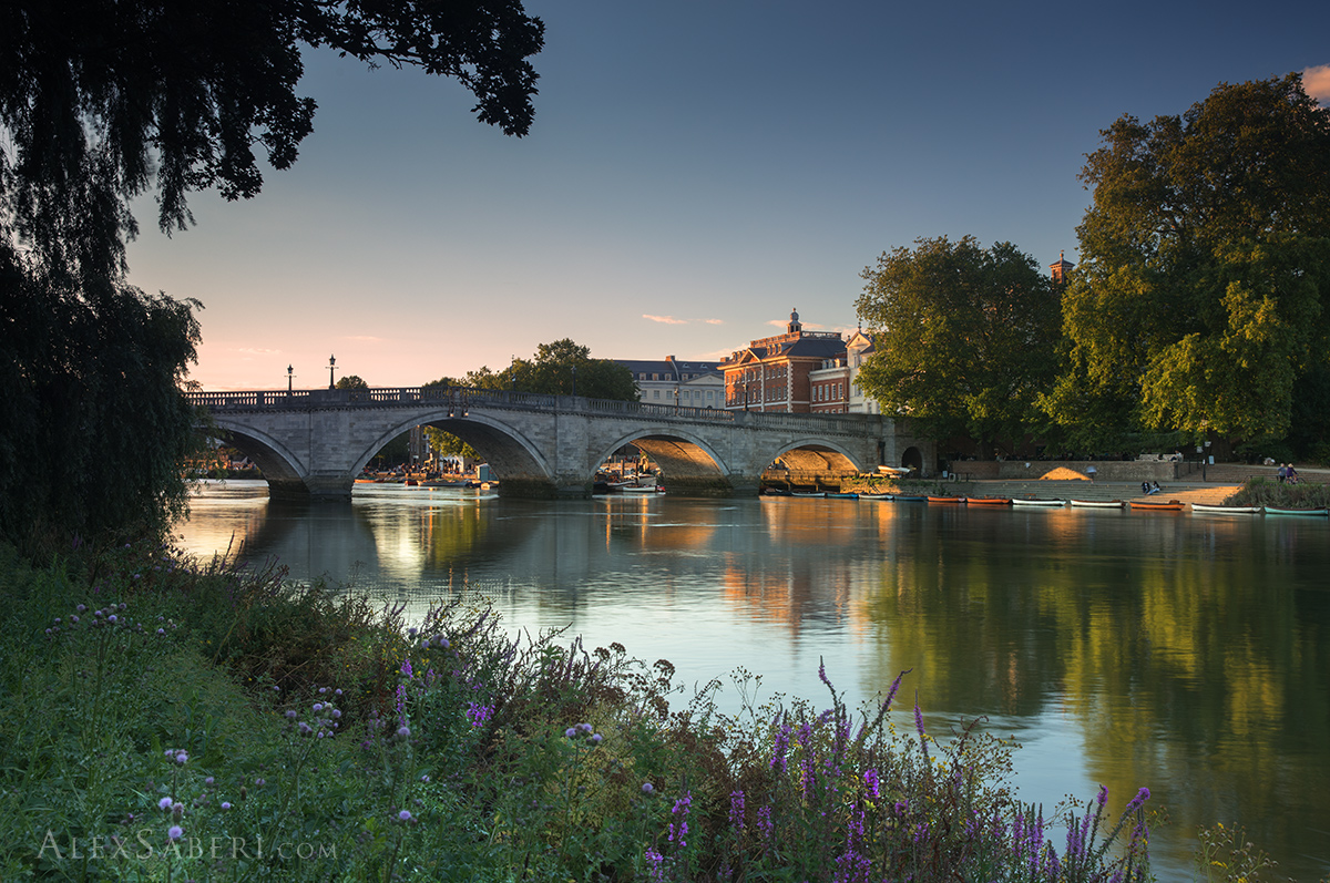 Print poster photo of Richmond bridge at sunrise.