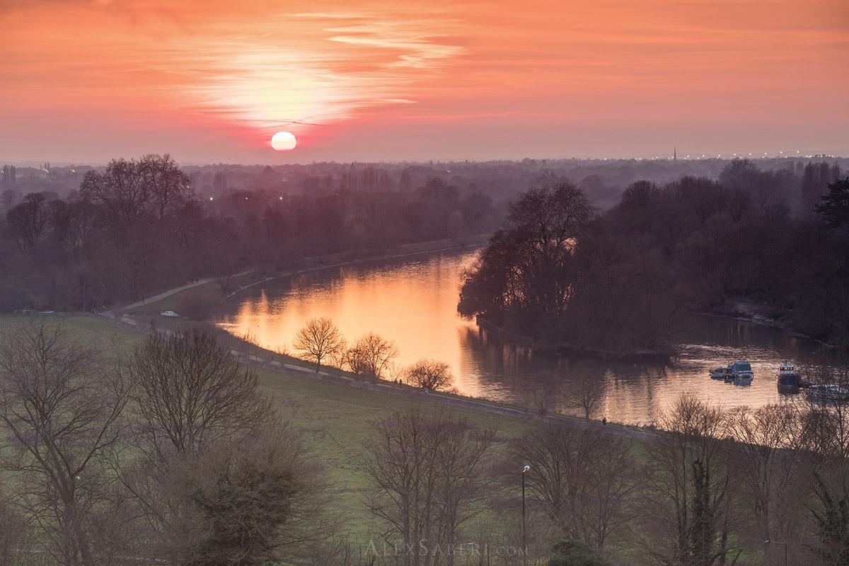 Richmond Hill photo print at sunset