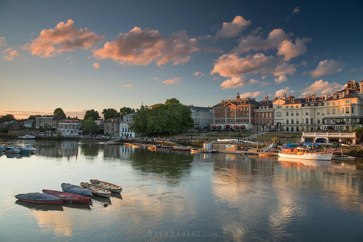 Richmond Riverside Print Photo at sunset