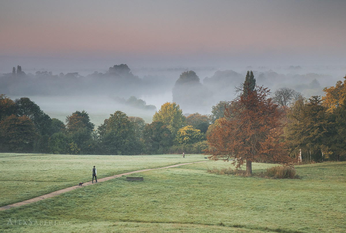 Richmond Hill in the misty sunrise